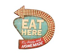 'Eat Here' Wall Decor