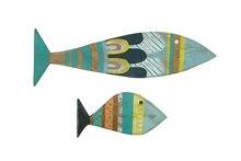Waterside Hand-Painted Reclaimed Wood Fish