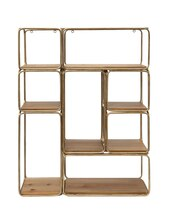 Collected Notions Metal & Wood Shelf
