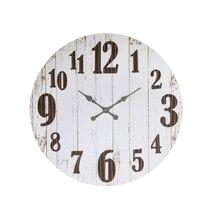 Round Clock, White