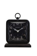 Collected Notions Pewter Table Clock, medium