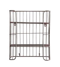 Casual Country Wire Shelf With Hooks