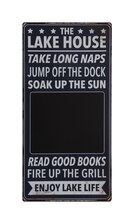 Cabin 'The Lake House' Sign with Chalkboard