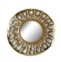 Collected Notions Metal Framed Mirror with Chain Loop Design