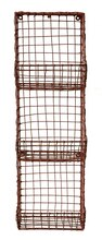 Casual Country Rust Finish Hand-Made Wire Stack Basket