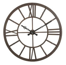 Collected Notions Wall Clock, Rust Finish