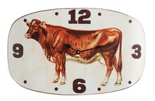 Casual Country Vintage Cow Wall Clock