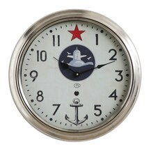 Waterside Wall Clock with Star & Anchor