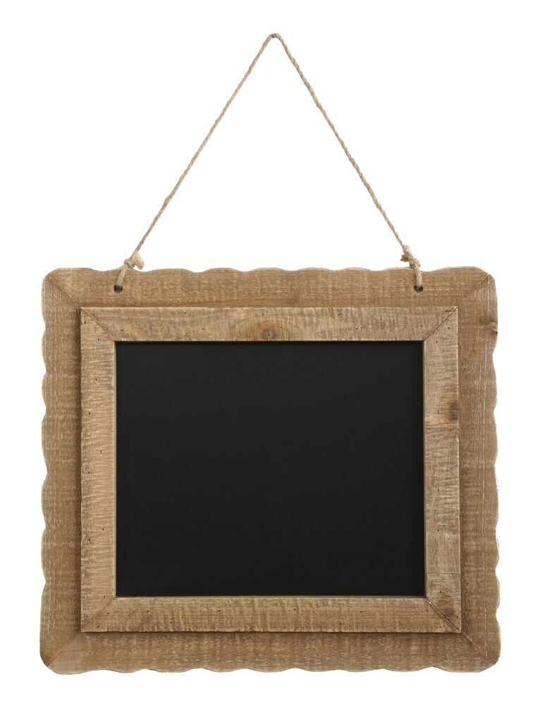Shop for the Framed Chalkboard with Jute Hanger at Michaels
