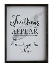 Inspirational 'Feathers Appear' Wall Decor