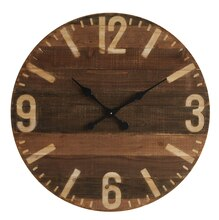 Casual Country Round Laser-Cut Wall Clock, medium