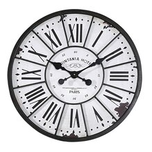 Collected Notions Round Wall Clock, Black, medium
