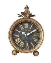 Collected Notions Mantel Clock, Gold Finish