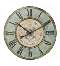 Collected Notions Round Wall Clock, Green