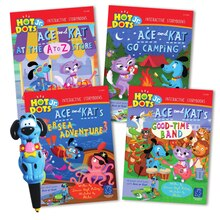 Hot Dots Jr. Interactive Storybooks - 4 Book Set with Ace - the Talking, Teaching Dog Pen