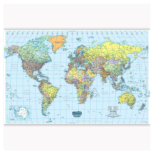 laminated world map