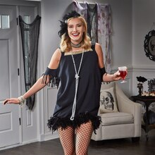 Flapper Girl Halloween Costume, medium