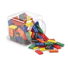 Double-Six Colored Dominoes, Set of 168, medium