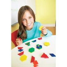 Plastic Pattern Blocks, 250 Pieces