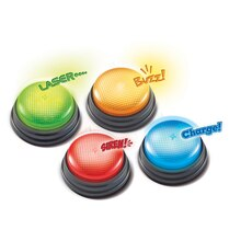 Lights and Sounds Answer Buzzers, Set of 4, medium