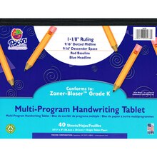 "Pacon Multi-Program Handwriting Tablets, 1.125"" Long Rule"