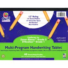 "Pacon Multi-Program Handwriting Tablets, 1/2"" Long Rule"
