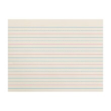 "Zaner-Bloser Broken Midline Papers, 3/4"" Long Ruled, 3 Reams"