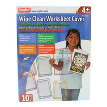 Wipe Clean Worksheet Covers, Pack of 10