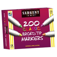 Sargent Art Best-Buy Classic Washable Broad Tip Marker Assortment, 8 colors, 200 ct