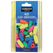 Assorted Color Cap Erasers, 24 Packs