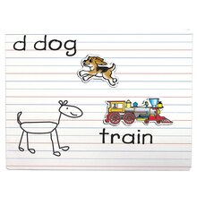 Lined Magnetic Dry-Erase Board, 3 Count