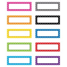 Polka Dots Magnetic Labels, 3 Packs
