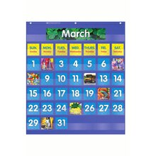 Monthly Calendar Pocket Chart, 61 Pieces