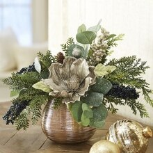 Metallic Christmas Floral Arrangement, medium
