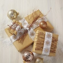 Branch Embellished Gift Wrap, medium