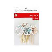 Snowflake Treat Toppers By Celebrate It Pack