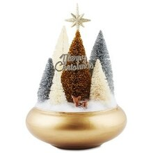 Silver and Gold Miniature Christmas Tree Forest, medium