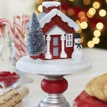 Miniature Snowman Themed Pedestal, medium