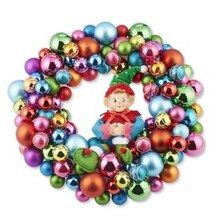 Elf Brights Miniature Christmas Wreath, medium