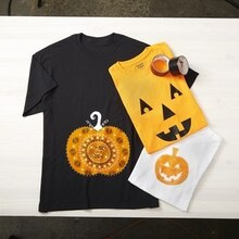 Kids' Stamped Pumpkin T-Shirt, medium