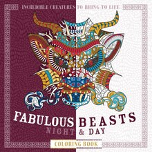 fabulous beasts night day coloring book - Michaels Coloring Books