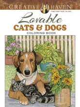 Creative Haven Lovable Cats & Dogs Coloring Book
