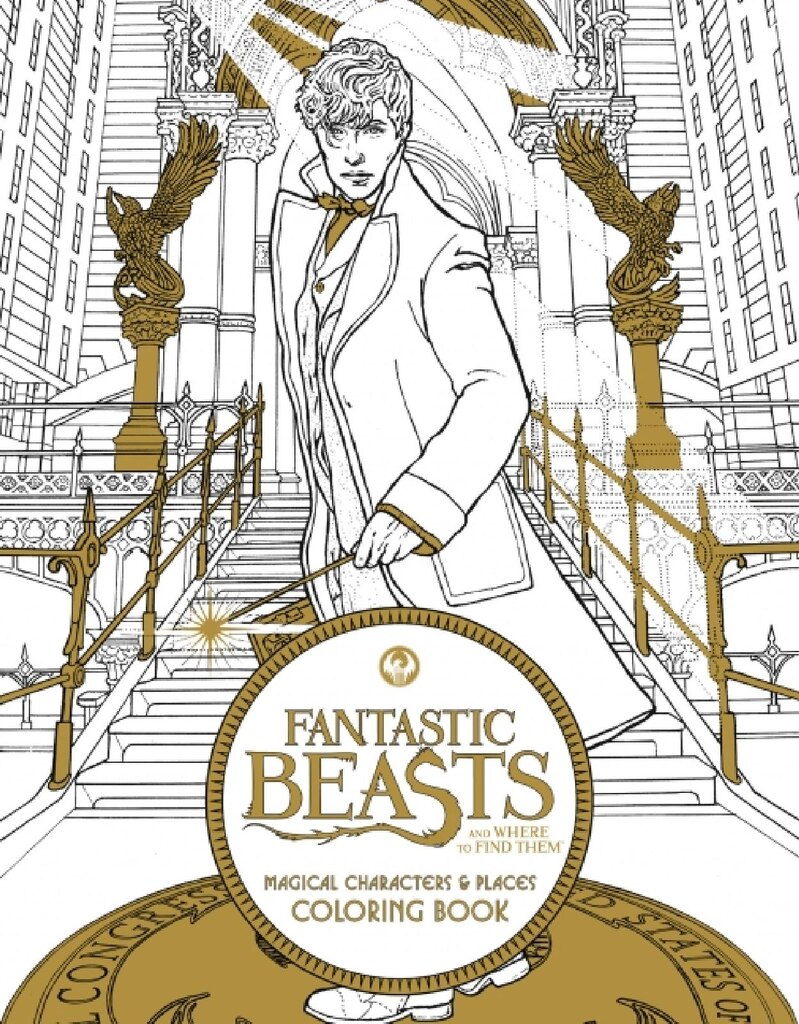 fantastic beasts and where to find them magical character places coloring book - Michaels Coloring Books