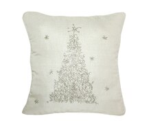 Beaded Tree Pillow