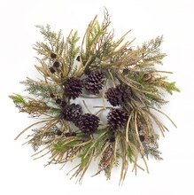 Mixed Foliage & Pine Cone Wreath