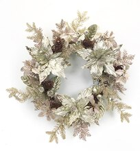 Metallic Poinsettia Wreath