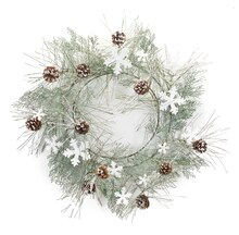 Snowflake and Pine Cone Wreath