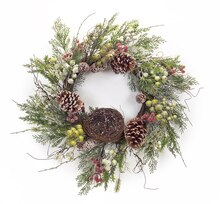 Frosted Pine And Berry Wreath