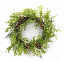 Cypress Wreath With Pinecones