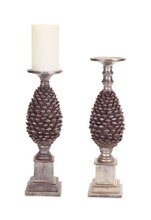 Pine Cone Candle Holder, Set of 2